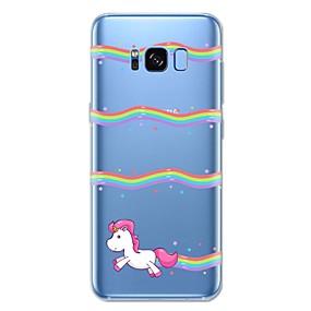 voordelige Galaxy S7 Edge Hoesjes / covers-hoesje Voor Samsung Galaxy S8 Plus / S8 / S7 edge Patroon Achterkant Eenhoorn / dier / Cartoon Zacht TPU