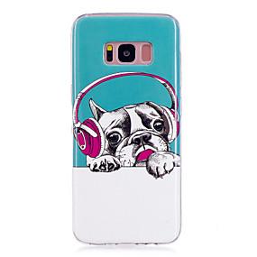 voordelige Galaxy S7 Edge Hoesjes / covers-hoesje Voor Samsung Galaxy S8 Plus / S8 / S7 edge Glow in the dark / IMD / Patroon Achterkant Hond Zacht TPU