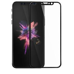 abordables Protections Ecran pour iPhone-Protecteur d'écran Apple pour iPhone X Verre Trempé 1 pièce Coin Arrondi 3D Anti-Rayures Dureté 9H