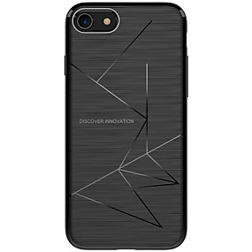 olcso iPhone tokok-Nillkin Case Kompatibilitás Apple / iPhone X iPhone X / iPhone 8 Ütésálló / Jeges Fekete tok Vonalak / hullámok Puha TPU mert iPhone X / iPhone 8 Plus / iPhone 8