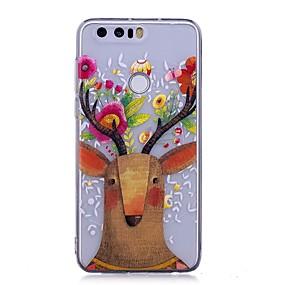voordelige Huawei Honor hoesjes / covers-hoesje Voor Huawei P9 Lite / Huawei / Huawei P8 Lite P10 Lite / Huawei P9 Lite / Huawei P8 Lite IMD / Transparant / Patroon Achterkant dier Zacht TPU