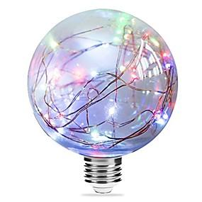 Χαμηλού Κόστους Λαμπτήρες LED με νήμα πυράκτωσης-1pc 3 W LED Λάμπες Πυράκτωσης 250 lm E27 G95 33 LED χάντρες Ενσωματωμένο LED Έναστρος Μπλε Ροζ Πολύχρωμα 85-265 V / RoHs