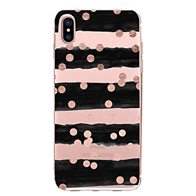 billige Daglige tilbud-Etui Til Apple iPhone X / iPhone 8 Transparent / Mønster Bagcover Linjeret / bølget Blødt TPU for iPhone X / iPhone 8 Plus / iPhone 8