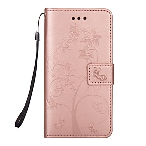 voordelige Galaxy S7 Hoesjes / covers-hoesje Voor Samsung Galaxy S8 Plus / S8 / S7 edge Portemonnee / Kaarthouder / met standaard Volledig hoesje dier / Boom Hard PU-nahka