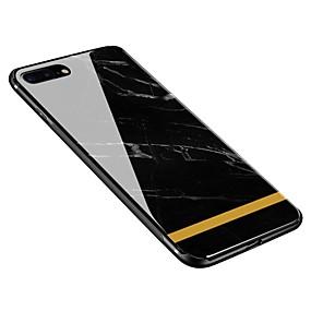 olcso iPhone tokok-Case Kompatibilitás Apple iPhone X / iPhone 8 Plus Minta Fekete tok Márvány Puha Hőkezelt üveg mert iPhone X / iPhone 8 Plus / iPhone 8