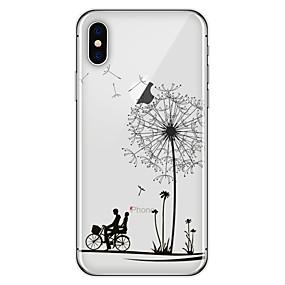 halpa iPhone 5S / SE kotelot-Etui Käyttötarkoitus Apple iPhone X / iPhone 8 Plus Kuvio Takakuori Voikukka Pehmeä TPU varten iPhone X / iPhone 8 Plus / iPhone 8