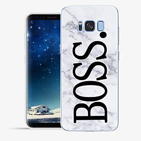 voordelige Galaxy S6 Edge Plus Hoesjes / covers-hoesje Voor Samsung Galaxy S8 Plus / S8 / S7 edge Patroon Achterkant Woord / tekst / Marmer Zacht TPU