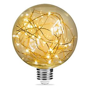 Χαμηλού Κόστους Λαμπτήρες LED με νήμα πυράκτωσης-1pc 3 W LED Λάμπες Πυράκτωσης 200 lm E26 / E27 G95 33 LED χάντρες SMD Διακοσμητικό Έναστρος Χριστουγεννιάτικη διακόσμηση γάμου Θερμό Λευκό 85-265 V / RoHs