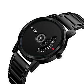Недорогие Фирменные часы-SKMEI Муж. Жен. Спортивные часы Наручные часы Кварцевый Нержавеющая сталь Черный / Серебристый металл 30 m Защита от влаги Повседневные часы Cool Цифровой Роскошь На каждый день Мода Cool -