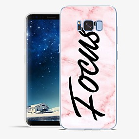 voordelige Galaxy S7 Edge Hoesjes / covers-hoesje Voor Samsung Galaxy S8 Plus / S8 / S7 edge Patroon Achterkant Woord / tekst / Marmer Zacht TPU