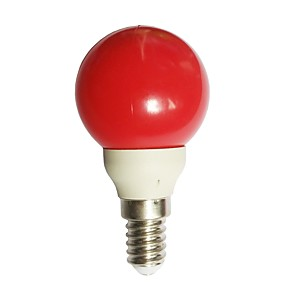 billige Lyspærer til pyntebelysning-1pc 0.5 W LED-globepærer 15-25 lm E14 G45 7 LED Perler DIP LED Dekorativ Rød 100-240 V / RoHs