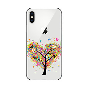 tanie Etui do iPhone-Kılıf Na Jabłko iPhone X / iPhone 8 Plus / iPhone 7 Transparentny / Wzór Osłona tylna Drzewo Miękka TPU na iPhone X / iPhone 8 Plus / iPhone 8