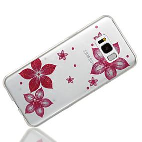 billige Samsung-tilbehør - nyheder-Etui Til Samsung Galaxy S8 Plus / S8 IMD / Mønster Bagcover Glitterskin / Blomst Blødt TPU for S8 Plus / S8 / S7 edge