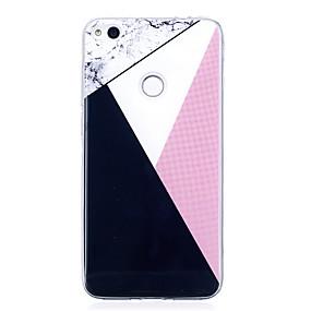 voordelige Huawei Honor hoesjes / covers-hoesje Voor Huawei IMD / Patroon Geometrisch patroon / Marmer Zacht