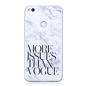 voordelige Huawei Honor hoesjes / covers-hoesje Voor Huawei IMD / Patroon Woord / tekst / Marmer Zacht