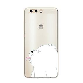 voordelige Huawei Honor hoesjes / covers-hoesje Voor Huawei P9 / Huawei P9 Lite / Huawei P8 P10 Plus / P10 Lite / P10 Patroon Achterkant dier / Cartoon Zacht TPU / Huawei P9 Plus