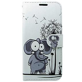 halpa Galaxy S -sarjan kotelot / kuoret-Etui Käyttötarkoitus Samsung Galaxy S8 / S7 Lomapkko / Korttikotelo / Tuella Elefantti Kova varten