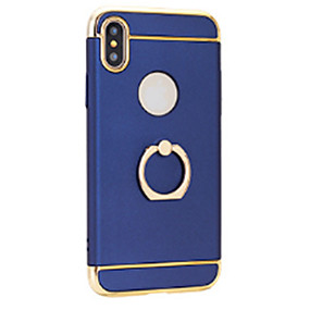 Недорогие Кейсы для iPhone-Кейс для Назначение Apple iPhone X / iPhone 8 Покрытие / Кольца-держатели / Ультратонкий Кейс на заднюю панель Однотонный Твердый ПК для iPhone X / iPhone 8 Pluss / iPhone 8
