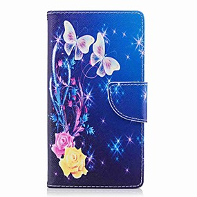 cheap Sony-Case For Sony Xperia XA2 Ultra / Xperia L2 Wallet / Card Holder / with Stand Full Body Cases Butterfly Hard PU Leather for Xperia XA2 Ultra / Xperia XA2 / Xperia XZ1 Compact
