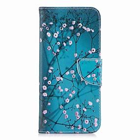 voordelige Galaxy S6 Edge Plus Hoesjes / covers-hoesje Voor Samsung Galaxy S9 / S9 Plus / S8 Plus Portemonnee / Kaarthouder / met standaard Volledig hoesje Bloem Hard PU-nahka