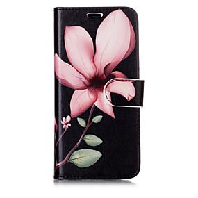 voordelige Galaxy S7 Edge Hoesjes / covers-hoesje Voor Samsung Galaxy S8 Plus / S8 / S7 edge Portemonnee / Kaarthouder / met standaard Volledig hoesje Bloem Hard PU-nahka