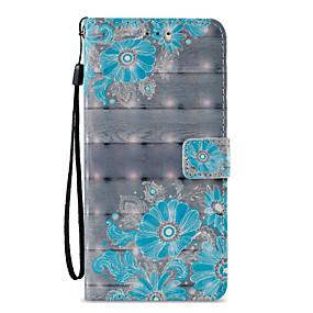voordelige Galaxy S7 Hoesjes / covers-hoesje Voor Samsung Galaxy S9 / S9 Plus / S8 Plus Portemonnee / Kaarthouder / met standaard Volledig hoesje Lace Printing / Bloem Hard PU-nahka
