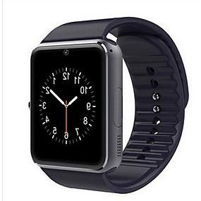 billige Smart Watches-Herre Dame Sportsur Smartur Digital Watch Læder Sort / Rød Bluetooth Kalender Selvlysende Digital Afslappet Kvadrat Mode - Sort Sølv Rød