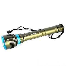 voordelige Zaklampen, lantaarns & lampen-LED-Zaklampen Handzaklampen LED LED emitters 10000 lm 1 Verlichtings Modus Waterbestendig Professioneel Anti-schok Kamperen / wandelen / grotten verkennen Duiken / varen Jagen Forest Groen