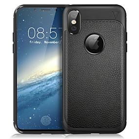 abordables Coques d'iPhone-Lenuo Coque Pour Apple iPhone X Antichoc / Dépoli Coque Couleur Pleine Flexible TPU pour iPhone X