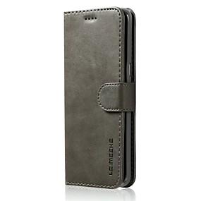 halpa Galaxy S -sarjan kotelot / kuoret-Etui Käyttötarkoitus Samsung Galaxy S8 Plus / S7 edge Lomapkko / Korttikotelo / Iskunkestävä Suojakuori Yhtenäinen Kova PU-nahka varten S8 Plus / S8 / S7 edge