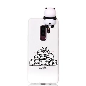 halpa Galaxy S -sarjan kotelot / kuoret-Etui Käyttötarkoitus Samsung Galaxy S9 Plus / S9 Kuvio / DIY Takakuori Piirretty / Panda Pehmeä TPU varten S9 / S9 Plus / S8 Plus