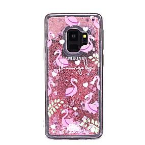 voordelige Galaxy S7 Edge Hoesjes / covers-hoesje Voor Samsung Galaxy S9 / S9 Plus / S8 Plus Stromende vloeistof Achterkant Flamingo Zacht TPU
