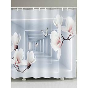 cheap Bathroom Gadgets-Shower Curtains & Hooks Casual Modern Polyester Novelty Machine Made Waterproof Bathroom