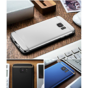cheap Samsung Accessories-Case For Samsung Galaxy S8 Plus / S8 Plating Back Cover Solid Colored Hard PC for S8 Plus / S8 / S7 edge