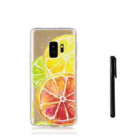 voordelige Galaxy S7 Hoesjes / covers-hoesje Voor Samsung Galaxy S9 / S9 Plus / S8 Plus Doorzichtig Achterkant Fruit Zacht TPU