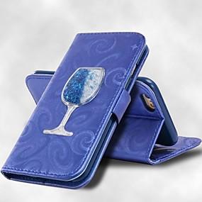Недорогие Чехлы и кейсы для Galaxy S5 Mini-Кейс для Назначение SSamsung Galaxy S8 Plus / S8 / S7 edge Кошелек / Бумажник для карт / со стендом Чехол Однотонный Твердый Кожа PU