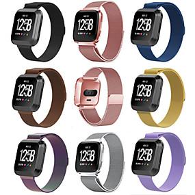 economico Cinturini per Fitbit-Cinturino per orologio  per Fitbit Versa Fitbit Cinturino a maglia milanese Acciaio inossidabile Custodia con cinturino a strappo