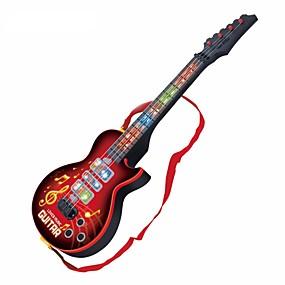 olcso Klasszikus játékok-Elektromos gitár Gitár Fények Zene Fiú Lány Gyermek Játékok Ajándék 1 pcs