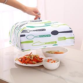 ieftine Ustensile Bucătărie & Gadget-uri-bucătării reutilizabile hrănire alimente păstrați alimente caldă pliere folie de aluminiu acoperă vase farfurii izolare bucătărie plase anti țânțar țânțar