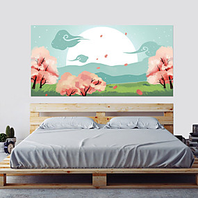 Недорогие Декоративные стикеры-Декоративные наклейки на стены - 3D наклейки 3D Цветочные мотивы / ботанический Гостиная Спальня Ванная комната Кухня Столовая Кабинет /