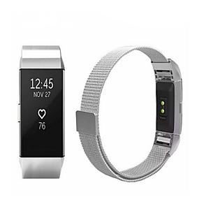 billige Smarturstilbehør-Urrem for Fitbit Charge 2 Fitbit Sportsrem / Milanesisk rem Rustfrit stål Håndledsrem