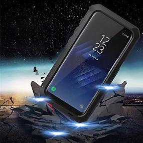 voordelige Galaxy S7 Hoesjes / covers-hoesje Voor Samsung Galaxy S9 / S9 Plus / S8 Plus Schokbestendig / Waterbestendig Volledig hoesje Schild Hard Metaal