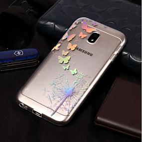 voordelige Galaxy J7 Hoesjes / covers-hoesje Voor Samsung Galaxy J7 (2017) / J7 (2016) / J7 Beplating / Patroon Achterkant Vlinder / Paardebloem Zacht TPU