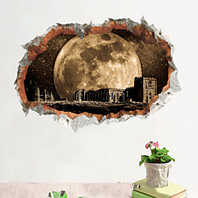 cheap Decoration Stickers-Decorative Wall Stickers - 3D Wall Stickers Landscape Living Room Bedroom Bathroom Kitchen Dining Room Study Room / Office