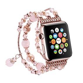 Недорогие Рекомендуемые-Ремешок для часов для Apple Watch Series 4/3/2/1 Apple Спортивный ремешок / Дизайн украшения Металл Повязка на запястье