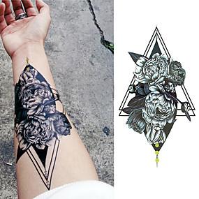 billige Midlertidige tatoveringer-3 pcs Tatoveringsklistremerker midlertidige Tatoveringer Blomster Serier / Romantisk serie kropps~~POS=TRUNC arm