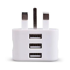 halpa Normaalit laturit-Kannettava laturi USB-laturi UK-pistoke 3 USB-portti 2.1 A 100~240 V varten