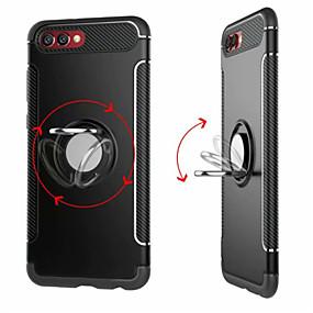 voordelige Huawei Honor hoesjes / covers-hoesje Voor Huawei Honor 9 / Huawei Honor 9 Lite / Honor 8 Ringhouder Achterkant Effen Hard PC