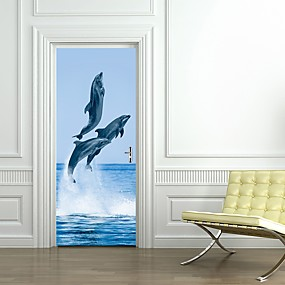 cheap Decoration Stickers-Door Stickers - 3D Wall Stickers Landscape / Animals Living Room / Bedroom