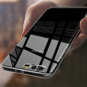 voordelige Huawei Honor hoesjes / covers-hoesje Voor Huawei Honor 9 Transparant Achterkant Effen Zacht TPU